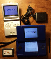 Gameboy Advance SP w/ game and a DS $35 for the the pair