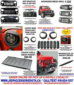 JEEP WRANGLER ACCESSORIES/PARTS/LED HEADLIGHTS/GRILLS