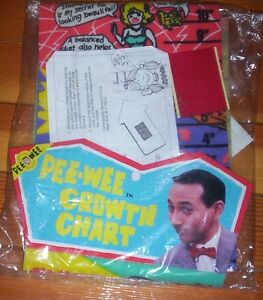 Pee Wee Herman GROWTH CHART 1988 collectible MINT in package Kitchener / Waterloo Kitchener Area image 1