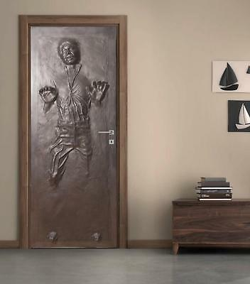 Han Solo Carbonite DOOR WRAP Decal Wall Sticker Mural Home Decor Star Wars D187 - Star Wars Decoration