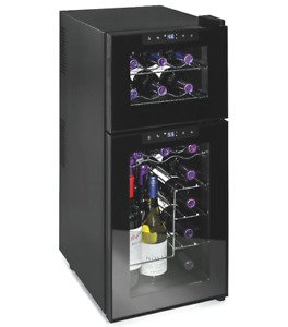 New in Box Silent 21 Bottle Dual Zone Refrigerator (Retail $450)
