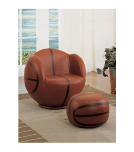 Basketball Youth Swivel Leather Chair