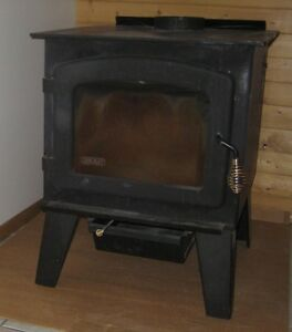 Drolet Wood Burning Stove with Chimney