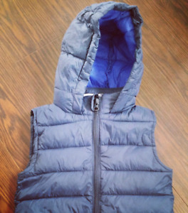 Fall Spring Blue Puffer Vest Toddler Size 2T