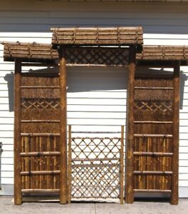 7' Japanese Style Zen Garden Gate, Backyard Destination Wedding