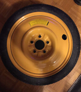 Mazda5 Emergency spare tire-wheel, 16inch T125/70 D16