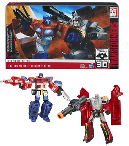 TRANSFORMERS GENERATIONS PLATINUM OPTIMUS PRIME VS. MEGATRON