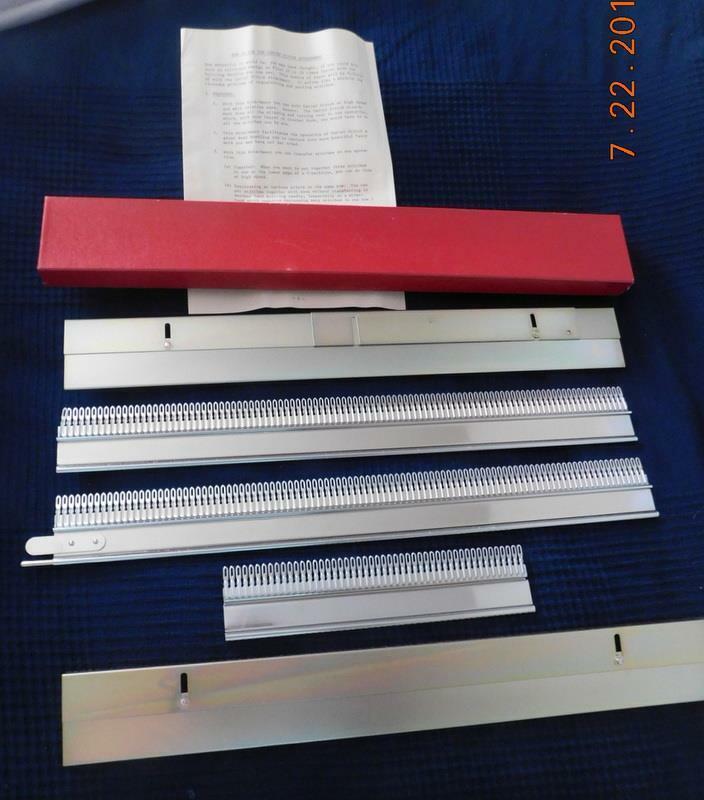 GARTER STITCH ATTACHMENT FOR KNITTING MACHINE - NEW IN BOX