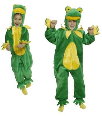 Frosch Kinder König Kostüm Overall Plüsch Froschkostüm Märchen Froschkönig Tier ()