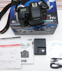 Canon Rebel T6s (760D ) Camera - Black (Body Only) **MINT**