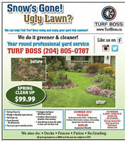 Summer Lawn Care Pacakges with Turf Boss 204-805-0787