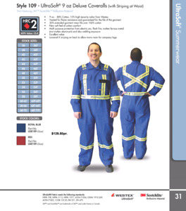 Used , Coveralls, FR Flame resistant
