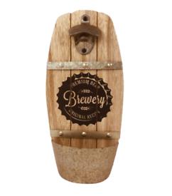 Wall Hanging Brewery Barrel Bottle Opener