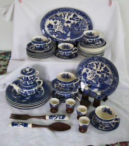 ENSEMBLE BLUE WILLOW provenant DES CEREALES QUAKER.c.1950/60;