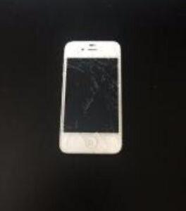 IPHONE 4S - BROKEN & SCREEN CRACKED
