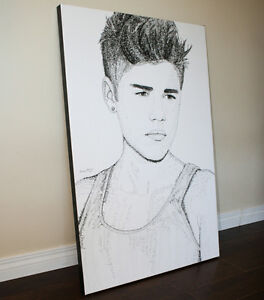 Justin Bieber Word Art Canvas - Large Print (ON SALE!)