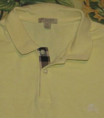 Mens BURBERRY BRIT Yellow Short Sleeve Polo Shirt XXL