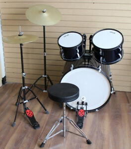 Full Size 3-Piece Drum Kits Crash, Hi-Hat & Throne