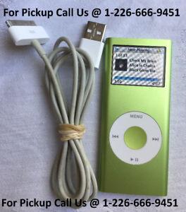 Apple iPod nano 2nd Gen GREEN 4GB Model A1199 w/ NEW BATTERY