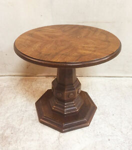 260: Vintage 1970s Solid Wood Occasional Table