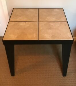 Brushed Aluminum Table with Tile Top