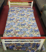 Strong Metal Single Bed with Mattress for $170 or best offer