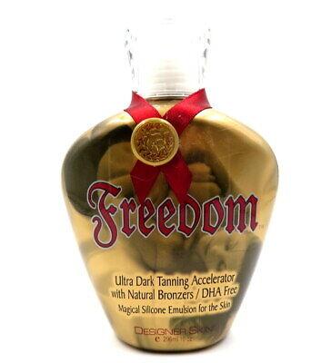 FREEDOM By DESIGNER SKIN Dark Tanning Accelerator Natural Bronzer Tanning Lotion Naturally Dark Tanning Lotion