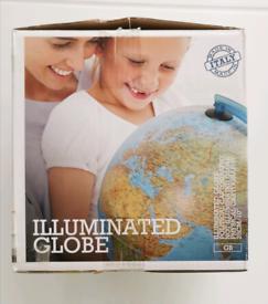 Globe, NEW illuminated with stand
