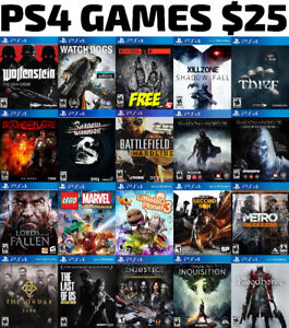 PS4 Games For Sale or Trade - $25 Each + FREE GAME