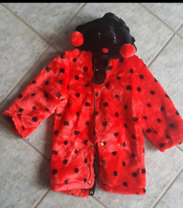 Toddler ladybug costume fits 22-3years old