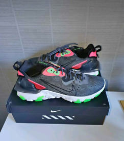 Nike React Vision Grey, White And Green Trainers