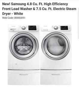 Samsung washer and dryer- electric steam