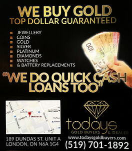 TOP DOLLAR for GOLD and DIAMONDS. CASH LOANS -Todays Gold Buyers London Ontario image 7