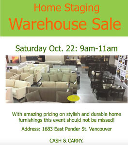 Home Staging Furniture - Warehouse Sale