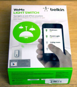 New Belkin Wemo Wi-Fi Smart Light Switch