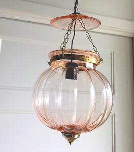Lampe indienne KHARBUJA en verre souflé