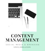 Content management for small business / Social media / marketing