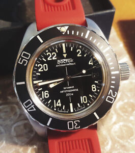 Vostok Amphibia 24 hours military time mod (Made in Russia)