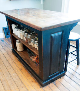 Rustic kitchen island from Johnson's Antiques