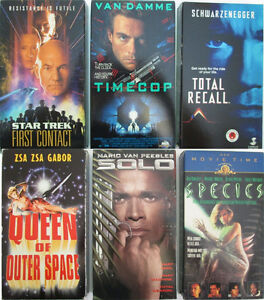 Sci-Fi and Fantasy Movies on VHS Tapes (58)
