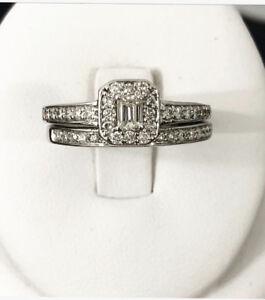 14K White Gold Diamond Engagement Ring Set *Appraised at $3,600