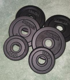 "5kg cast iron weights plates for standard 1"" bar"