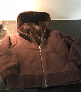 Cozy Rabbit fur lined Juicy Couture jacket:  Girl's size 6