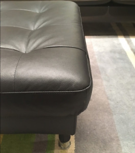 Brand New Genuine Leather Ottoman — In Box / Unopened