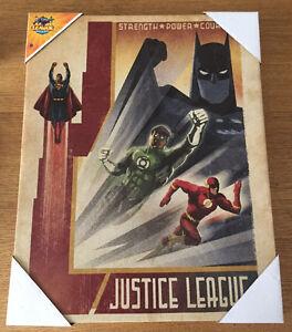 New DC Comics JUSTICE LEAGUE Canvas Wall Art