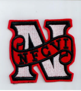Embroidered NFCVI crest - designed to be sewn on