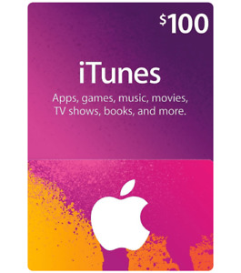 iTunes E-gift card ($100 value) - best cash offer or trade