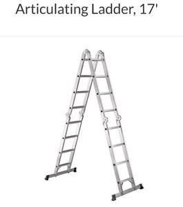 17' Aluminum Articulating ladder
