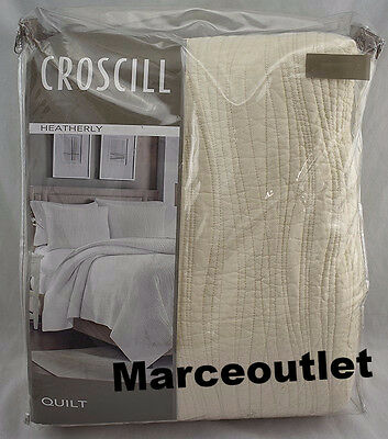 Croscill Home Heatherly FULL / QUEEN Cotton Quilt Ivory