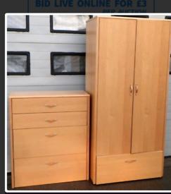Large Wardrobe & Drawers